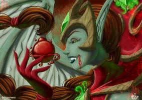 Fanart - Blood-Queen Lana'thel by LadyRosse