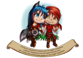 CM - Shad and Mellairaloce by LadyRosse