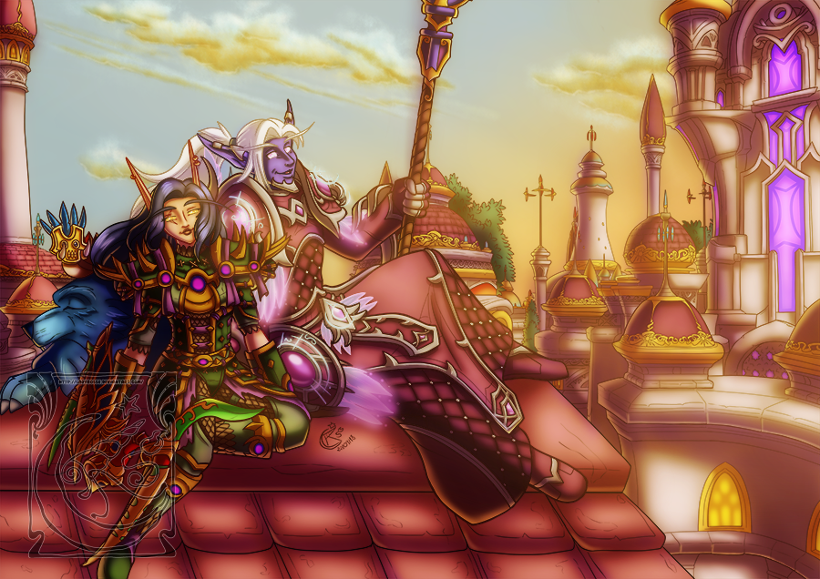 CM - On the roof DA by LadyRosse