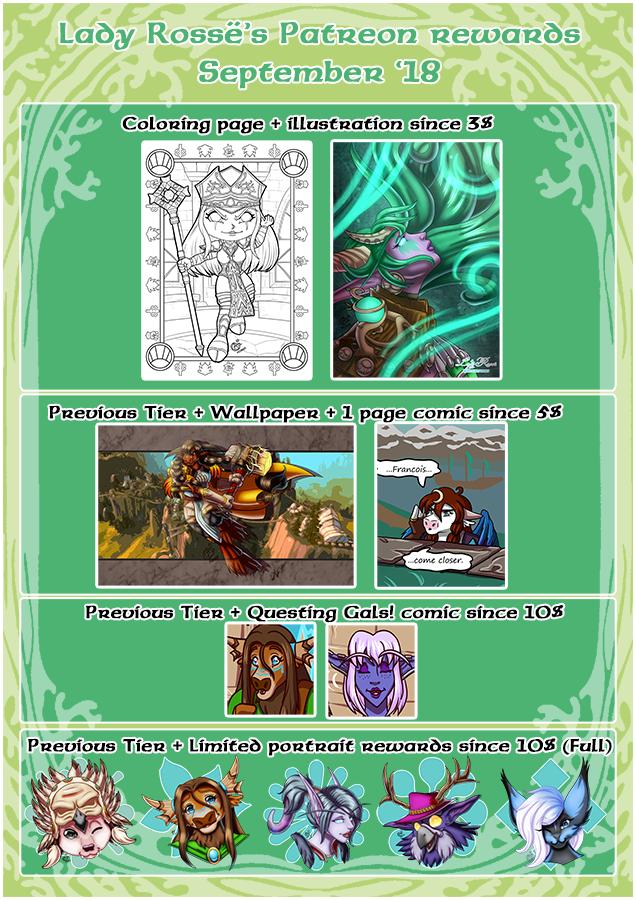 Patreon Rewards - September 18 by LadyRosse