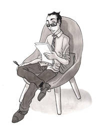 Short story man in chair by trs