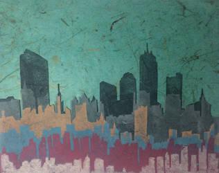 City skyline by Jeffa-Liang