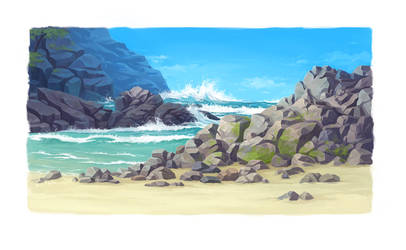 Digital Painting - Coast by lisiCat