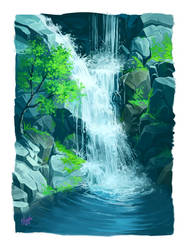 Waterfall by lisiCat
