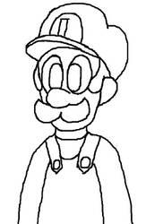 Luigi [Doodle Or Die] by GabrieleHayes