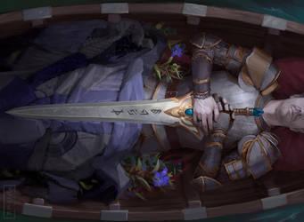 Heirloom Blade - MtG Commander 2017 by CarmenSinek