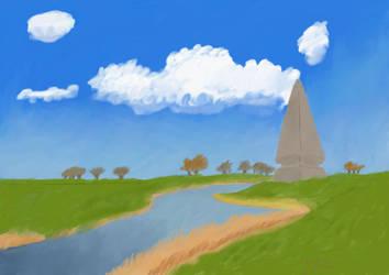 Obelisk by the River by FuhrerVonZephyr
