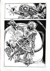 Cybermen vs Aliens page 7 by Snake-Artist