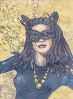 Medusa dressed as Catwoman by Snake-Artist