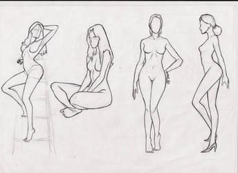 female body studie by ultraseven81