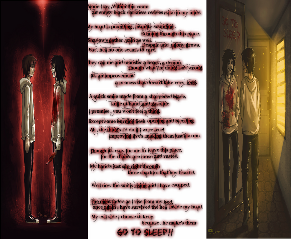 Cage of the Mind -  A Jeff the Killer poem. by AyanaRin