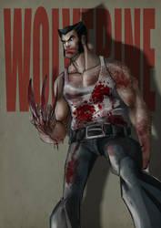 Wolverine in blood by IttoOgamy