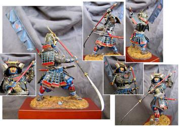 Samurai Warrior with ''Naginata'', 1600-1867 by IttoOgamy