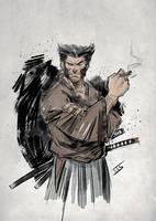 Logan samurai...fast sketgh by IttoOgamy