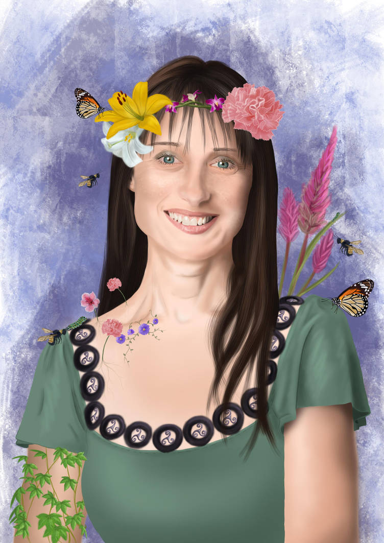 Portrait of My Mum by warrior-princess46