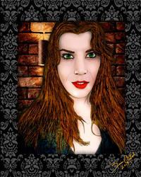 Taylor Fox Portrait by GothicPrincess1974