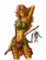 Feking-shaan-shaman catgirl in color by psychee-ange