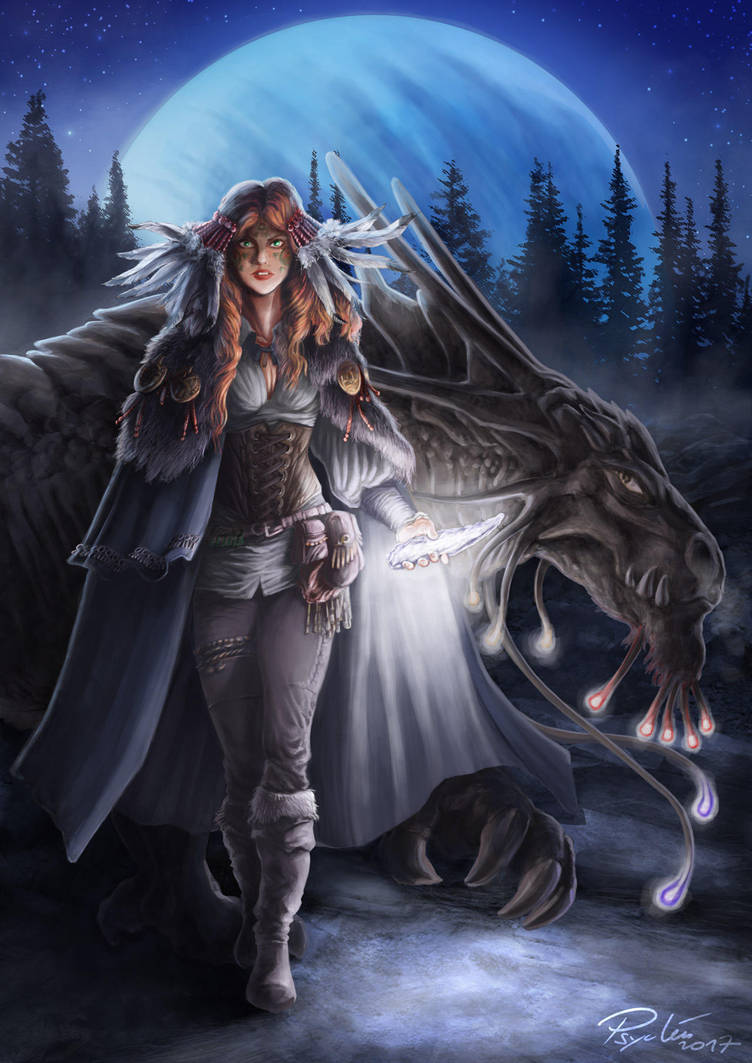 Neehla the mother of Dreakyas by psychee-ange