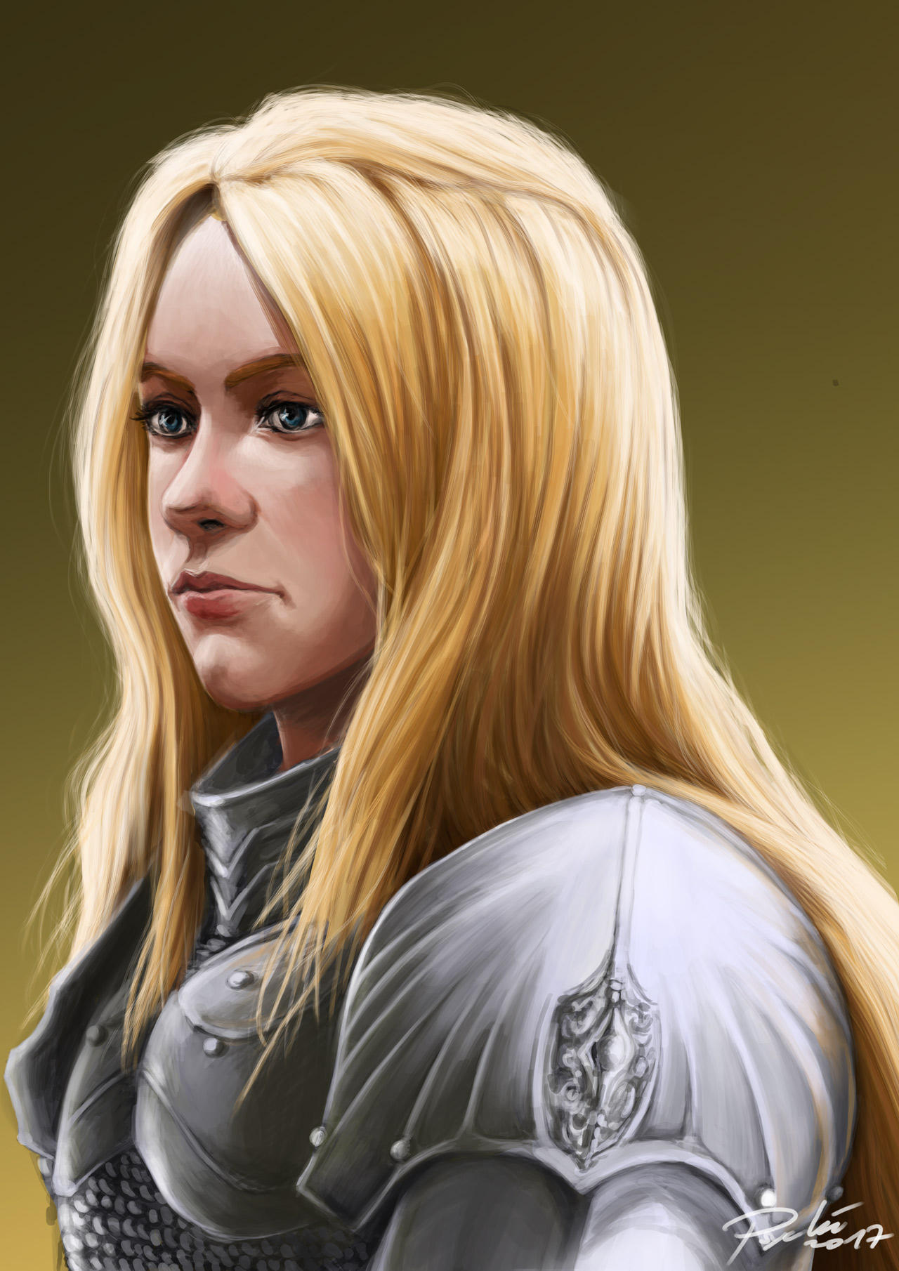 First Realistic Portrait by psychee-ange