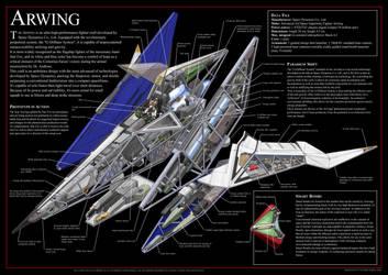 Incredible Cross-sections: Arwing by nejinoki
