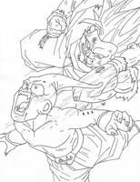 Goku Ssj3 V.s Kid Buu by cheygipe