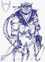 T-Bone pen sketch by SaneaUreti