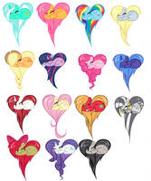 mlp fim hearts by MLP-luver16