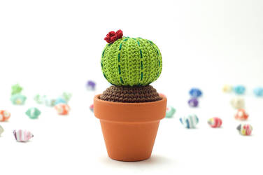 Round Barrel Cactus by TheBittiestBaubles