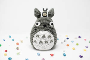 Large Crochet Totoro and His Little Totoro Friend by TheBittiestBaubles