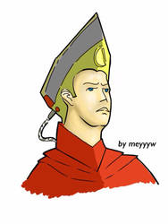 the emperor ling ping with his iron helmet by meyyyw