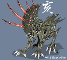 Wild Boar Alien by Reh0