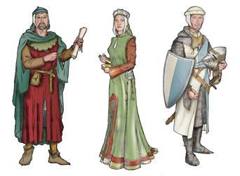 Medieval Figures by hesir