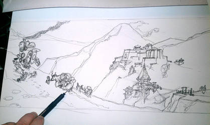 Tibiet/Himalayas Explorer 006 - WIP by hesir