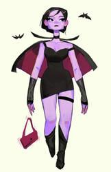 Teenage vampire girl by samuelyounart