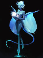 Moon Demon by samuelyounart