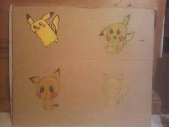 4 styles 4 ways - Pikachu by PsykopathBarthory
