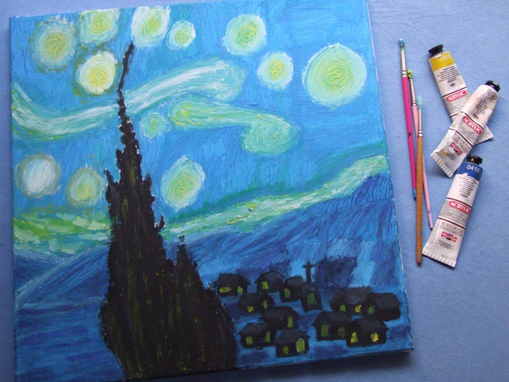 Vincent Van Gogh - Starry Night by PsykopathBarthory