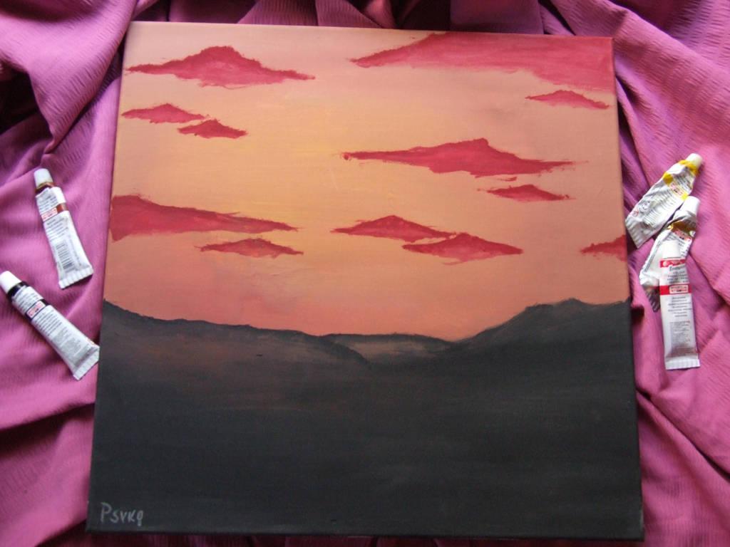 Bob Ross inspired desert by PsykopathBarthory