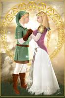 Zelda and Link by Sabrine