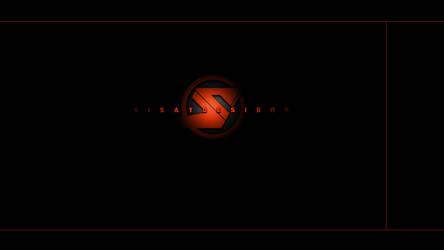 Cool, dark, wallpaper TEMPLATE for custom logo by SisayDesigns