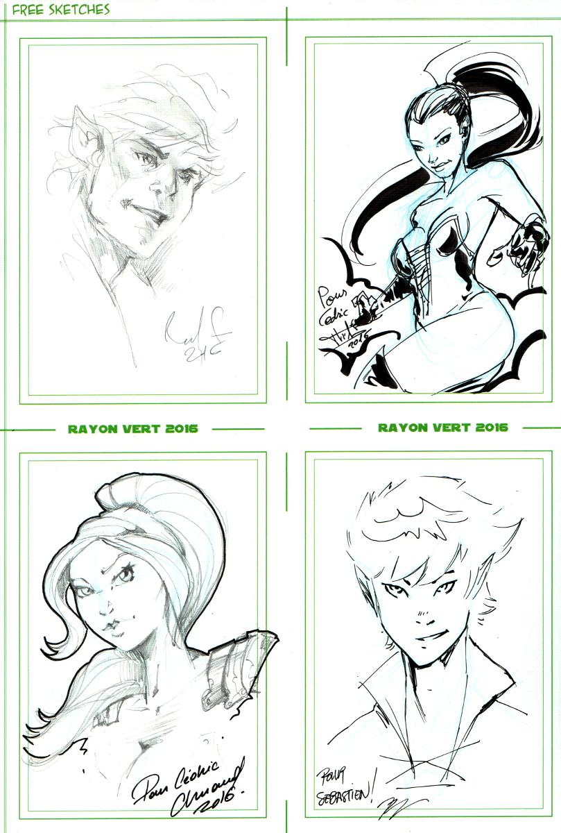Bardik and Marina free sketches - Rayon Vert 2016 by Kervala