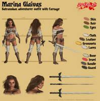 Marina Glaivas - Batranoban adventurer outfit by Kervala