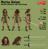 Marina Glaivas - Vorozion adventurer outfit by Kervala