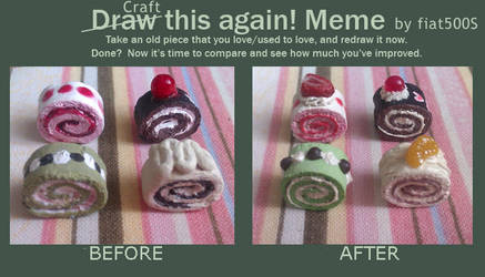 Before and After Meme: Mini cake rolls by fiat500S