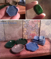 Miniature: Plates and Bowls by fiat500S