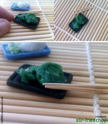 Miniature: Stir-fried choy by fiat500S