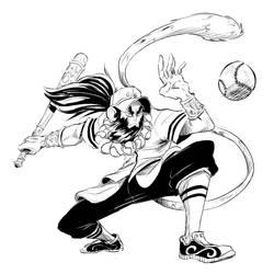 Sun Wukong baseball player 1 by Mohsqi