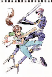 Baseball fighters - Girl x Robot by Mohsqi