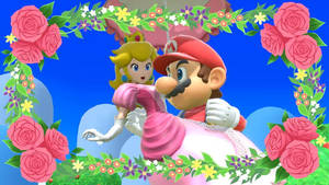 SSBU - PEACH, PARASOL, MARIO AND FLOWERS by GabyMarioFangirl