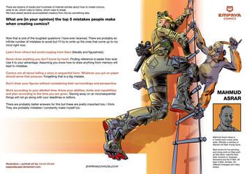 Top5 mistakes when creating comics: Mahmud Asrar by EMPAYAcomics